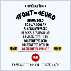 Fonts pack JÜ MMXVI