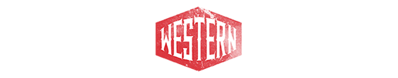 Typeface type western freehand